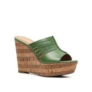 Green Wedge Sandal Leather Lucilla by Bandolino
